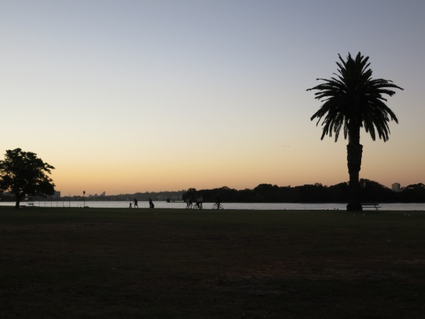 Sunset over the Swan River.