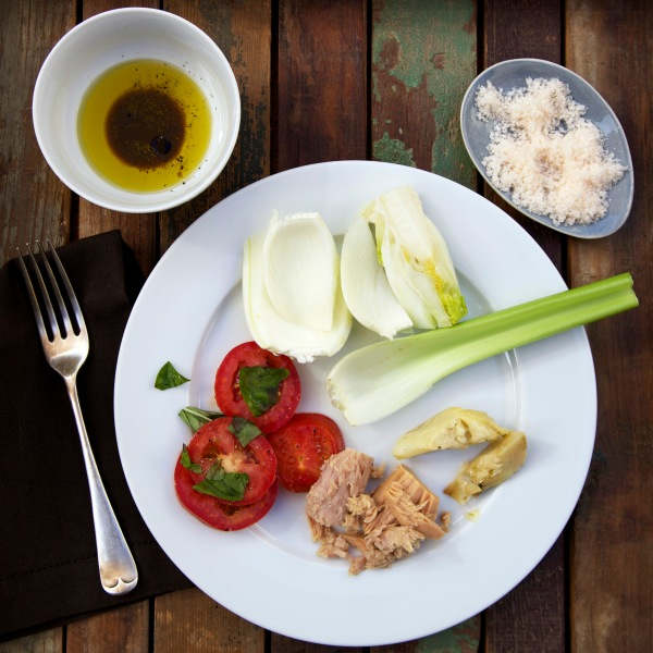 Fennel and olive oil lunch
